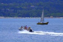 Lato łodzi wycieczki turysyczne Fotografia Stock