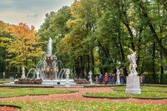 Lato ogród w świętym Petersburg w jesieni Obrazy Royalty Free
