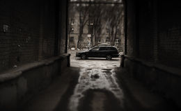 Lato oscuro della via Fotografia Stock Libera da Diritti