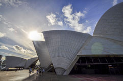 Lato oscuro di Sydney Opera Fotografia Stock