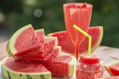 Lato owoc wciąż życie, naturalna arbuz świeżość fotografia stock