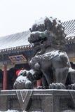 Lato pałac kamienia lwy Zdjęcia Royalty Free