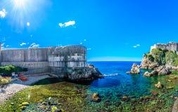Lato panorama w Dubrovnik, Chorwacja zdjęcie stock