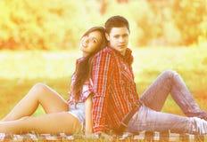 Lato pary nowożytny ładny odpoczywać Zdjęcie Stock