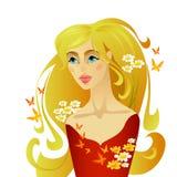 lato piękna kobieta Zdjęcie Stock