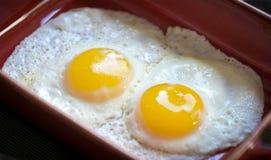 Lato pieno di sole sulle uova Immagini Stock Libere da Diritti