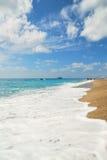 Lato plaża z biel fala obraz royalty free
