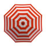 Lato plażowy czerwony parasol odizolowywający na białym tle ilustracja 3 d ilustracji