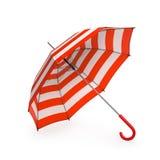 Lato plażowy czerwony parasol odizolowywający na białym tle ilustracja 3 d royalty ilustracja