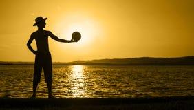 Lato plażowy sztandar obraz stock