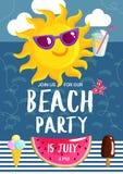Lato plaży przyjęcia plakat Zdjęcie Stock