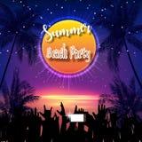 Lato plaży przyjęcia ulotki projekt ilustracji