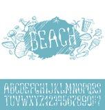 Lato plaży wzór ilustracji
