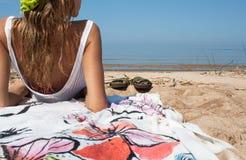 Lato plaża Zdjęcia Stock