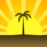 Lato plażowy zmierzch Zdjęcia Royalty Free