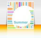 Lato plakat Lata tło Wykonuje plakat, rama karciani szczęśliwi wakacje royalty ilustracja
