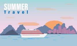 Lato podróży rejs royalty ilustracja