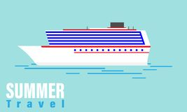 Lato podróży rejs ilustracji