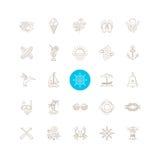 Lato podróży ikony set royalty ilustracja