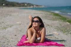 Lato portret na plaży Obraz Stock