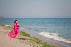 Lato portret na plaży Fotografia Stock