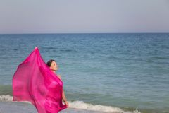 Lato portret na plaży Obrazy Stock