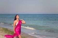Lato portret na plaży Zdjęcie Stock
