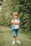 Lato portret urocza dzieciak chłopiec Zdjęcia Stock
