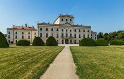 Lato posteriore del castello di Esterhazy Fotografia Stock