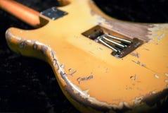 Lato posteriore del corpo della chitarra della reliquia Fotografie Stock