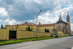 Lato posteriore dell'abbazia di Cisterian in Zirc, Ungheria Fotografia Stock