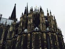 Lato posteriore della cattedrale di Colonia Immagini Stock Libere da Diritti