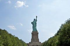Lato posteriore della statua della libertà Fotografia Stock Libera da Diritti