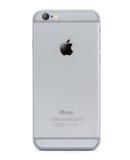 Lato posteriore di Iphone 6 isolato su fondo bianco Fotografie Stock