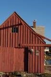 Lato posteriore di numero quello vecchio di motivo della baracca di pesca Fotografie Stock