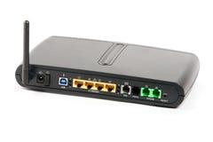 Lato posteriore di un router senza fili Immagine Stock