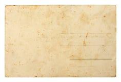 Lato posteriore di vecchia scheda postale Immagine Stock Libera da Diritti