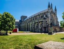 Lato przy Winchester katedrą obrazy royalty free