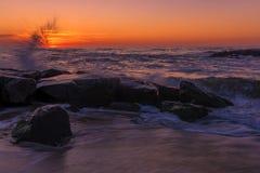 Lato ranek na plaży zdjęcie stock