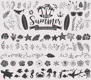 Lato rocznika sylwetki ilustracji