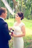 Lato romantyczny ślub w Provence stylu Zdjęcie Royalty Free