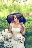 Lato romantyczny ślub w Provence stylu Obrazy Royalty Free