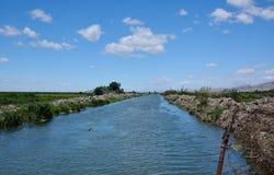 Lato rzeki krajobraz Zdjęcie Stock