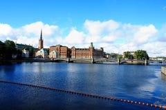 Lato sceneria Stary miasteczko w Sztokholm, Szwecja Obraz Stock