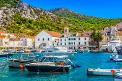 Lato sceneria w Chorwacja, Adriatycki morze Fotografia Stock