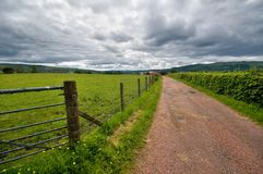 Lato scozzese del paese Immagine Stock