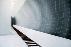 Lato scuro della stazione della metropolitana Immagini Stock