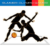 Lato siatkówki Olimpijskie igry sylwetki royalty ilustracja