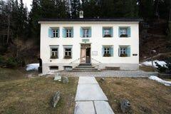 Lato siedziba Niemiecki filozof Friedrich Nietzsche Zdjęcie Stock