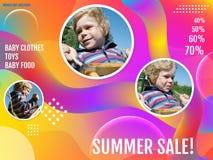 Lato sprzeda?, abstrakcjonistyczny t?o Wizerunki zawiera? obraz stock